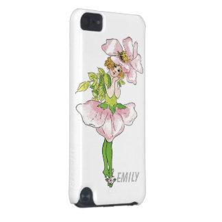 Chica lindo divertido floral subió Briar rosado de Carcasa Para iPod Touch 5G