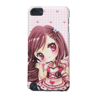 Chica lindo en vestido del lolita del rosa del kaw funda para iPod touch 5