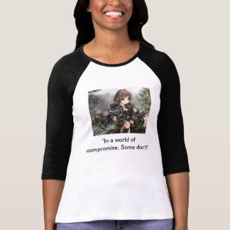 Chica militar, animado camisetas