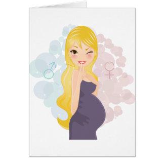 Chica o muchacho embarazada tarjeta de felicitación
