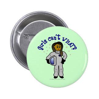 Chica oscuro del astronauta pin