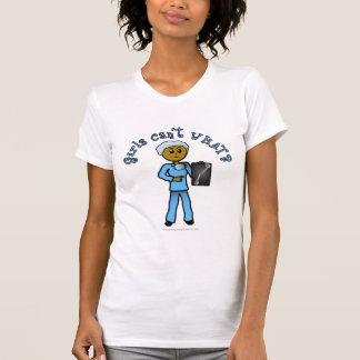 Chica oscuro del tecnólogo de la radiografía camisetas