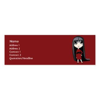 Chica oscuro - flaco tarjetas de visita mini