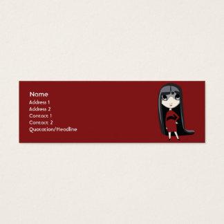 Chica oscuro - flaco tarjeta de visita mini