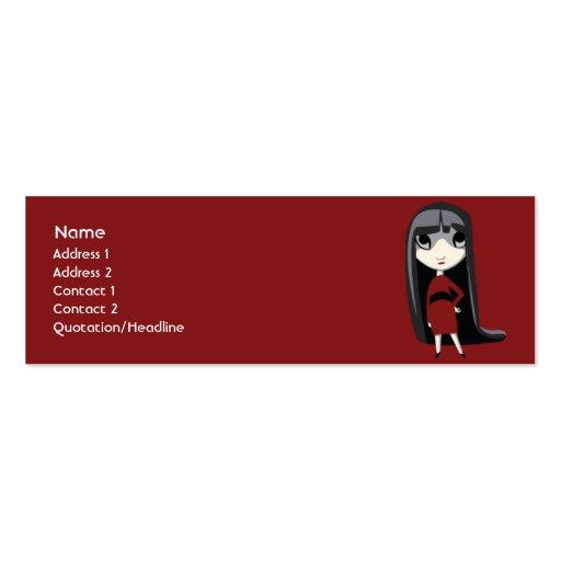 Chica oscuro - flaco tarjeta de negocio
