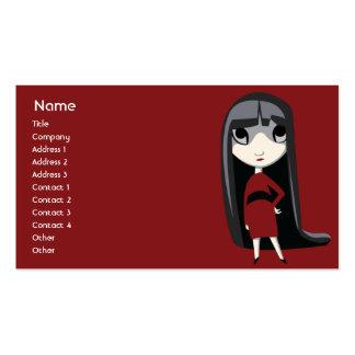 Chica oscuro - negocio plantilla de tarjeta de visita
