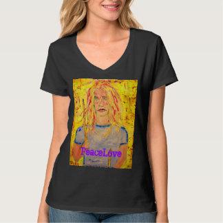 chica PeaceLove del batería Camiseta