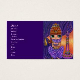 Chica púrpura de los genios de la bailarina de la tarjeta de visita