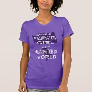 Chica púrpura del estado de Washington en DC Camisetas