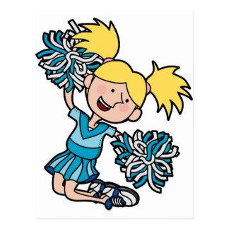 chica que anima el salto en el aire tarjetas postales
