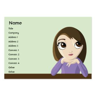 Chica - rechoncho plantillas de tarjetas de visita