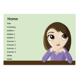 Chica - rechoncho plantilla de tarjeta de visita