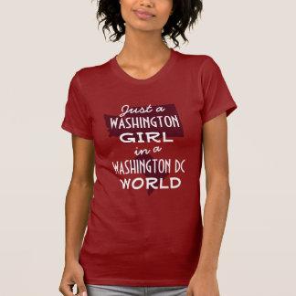 Chica rojo del estado de Washington en DC Camisetas