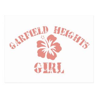 Chica rosado de Garfield Postal