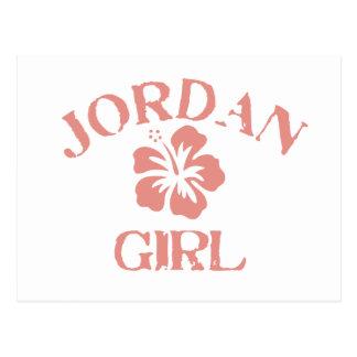 Chica rosado de Jordania Tarjetas Postales