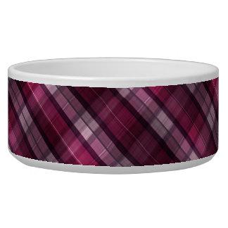 Chica rosado moderno de la tela escocesa comedero para mascota