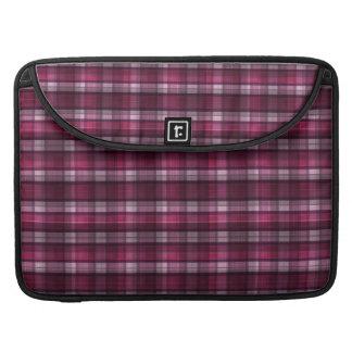 Chica rosado moderno de la tela escocesa fundas para macbooks