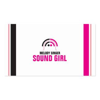 Chica sano (1a) tarjetas de visita