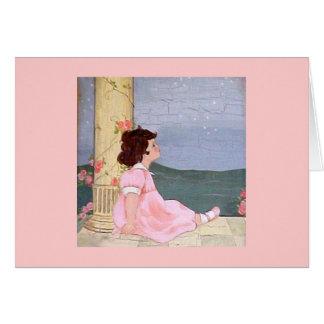 Chica - sueños dulces tarjeta de felicitación