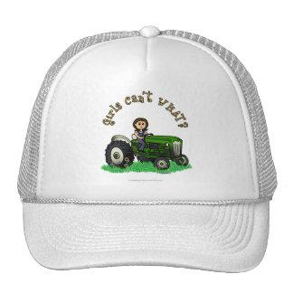 Chica verde claro del granjero gorras
