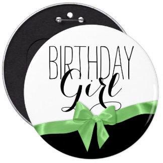 Chica verde del cumpleaños del arco de la cinta