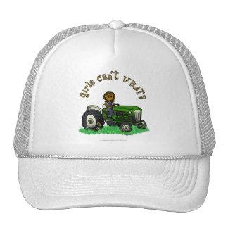 Chica verde oscuro del granjero gorro de camionero