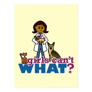 Chica veterinario postal