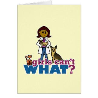 Chica veterinario tarjeta de felicitación