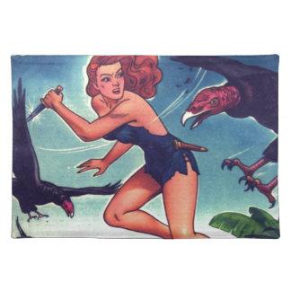 Chica y propiedad horizontal de la selva salvamanteles