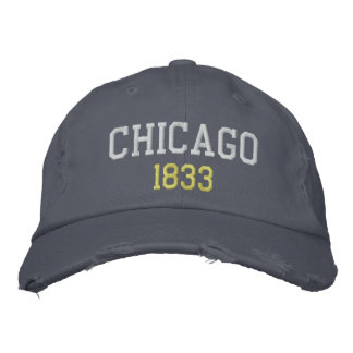 Chicago 1833 gorras bordadas