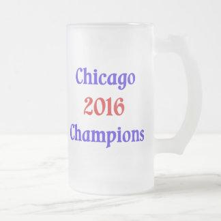 Chicago 2016 campeones heló la taza de cerveza
