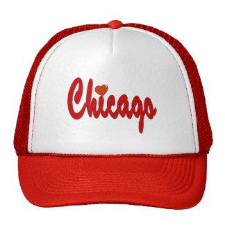 Chicago con un corazón gorros
