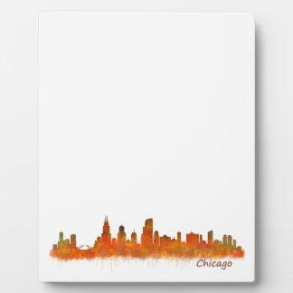 chicago Illinois Cityscape Skyline Placa Expositora