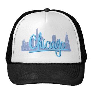 Chicago-Luz-Azul Gorro
