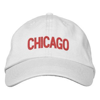 Chicago personalizó el gorra ajustable gorras de beisbol bordadas