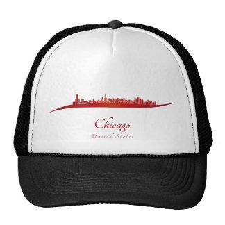 Chicago skyline in red gorro
