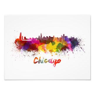Chicago skyline in watercolor foto