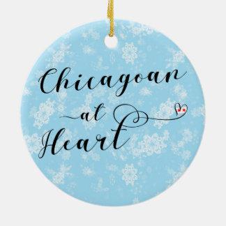 Chicagoan en la decoración del día de fiesta del