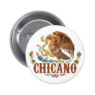 Chicano del escudo de armas de México Chapa Redonda De 5 Cm