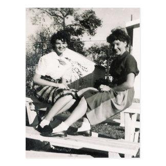 CHICAS #14 de los años 50 Postal