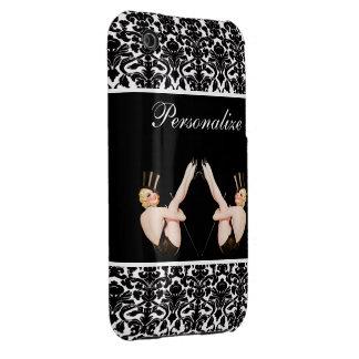 Chicas ascendentes de la demostración del Pin del iPhone 3 Protector