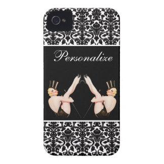 Chicas ascendentes de la demostración del Pin del iPhone 4 Case-Mate Cárcasas