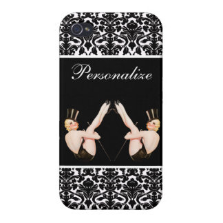 Chicas ascendentes de la demostración del Pin del iPhone 4 Protectores