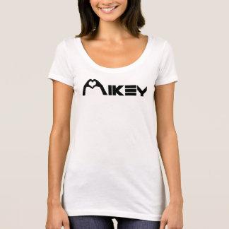Chicas básicos blancos T de Mikey Shanley Camiseta