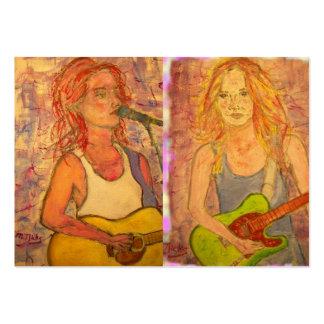Chicas de la guitarra plantillas de tarjeta de negocio