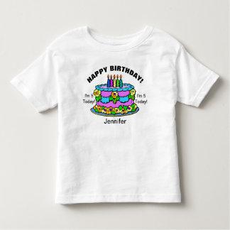 Chicas de la torta del feliz cumpleaños SU Camiseta De Bebé