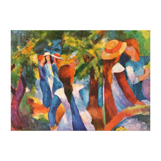 Chicas debajo de los árboles August Macke Lienzo