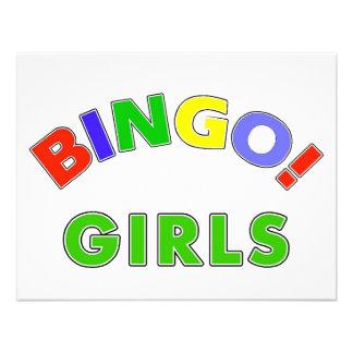 Chicas del bingo invitaciones personalizada
