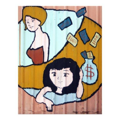 Chicas del dinero tarjetón