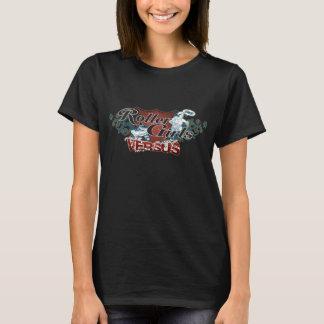 Chicas del rodillo contra la camiseta